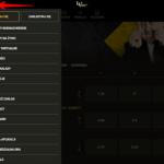 Aplikacja LvBet menu