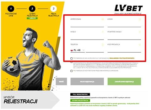 LvBet rejestracja dane osobowe