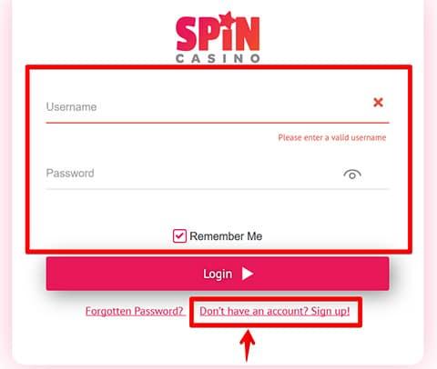 Spin Palace rejestracja i logowanie na konto