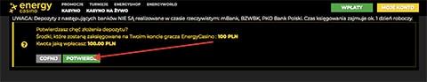 Złóż depozyt energy casino