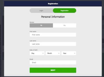 Formularz rejestracji