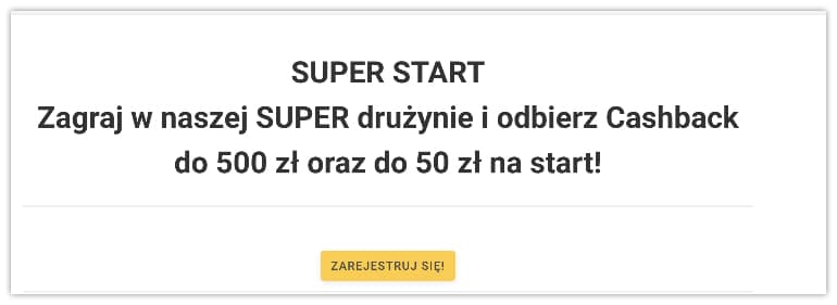 bonus powitalny w Superbet