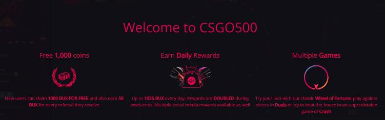 Bonus w CSGO500