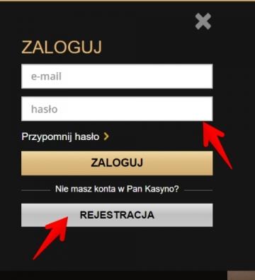 Pan Kasyno logowanie i rejestracja