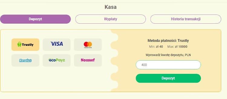 metoda platnosci w kasynie online