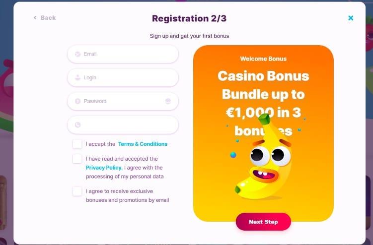 Nomini Casino rejestracja