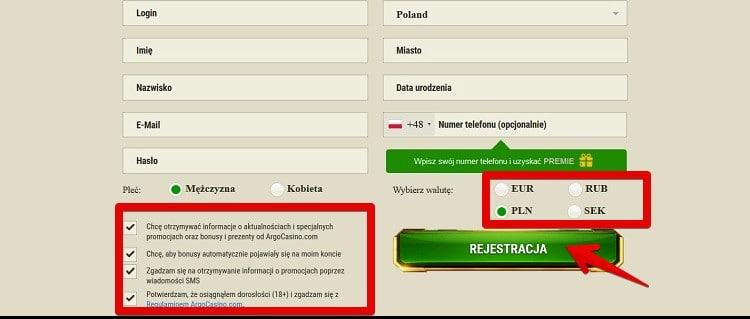 Uzupełnij formularz rejestracyjny