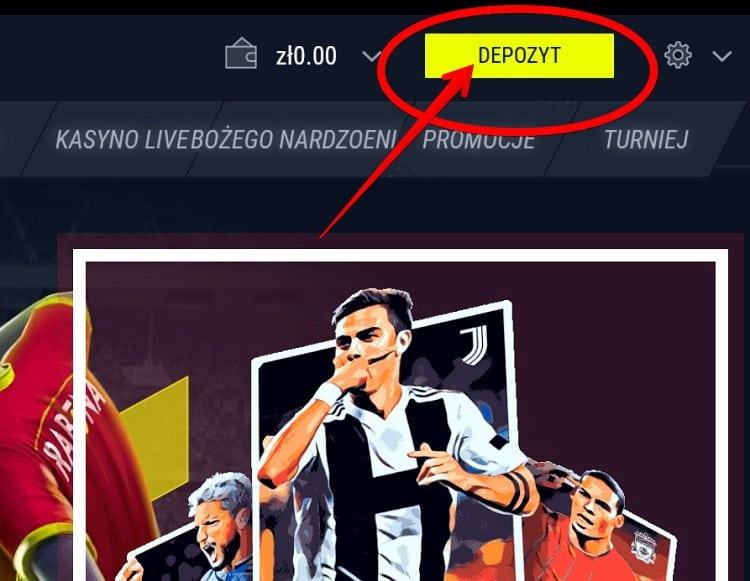 Wpłata depozytu Rabona Sport screenshot