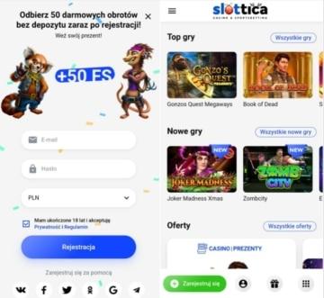 strona mobile Slottica