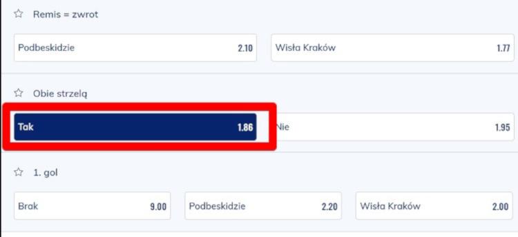 Podbeskidzie Wisła Kraków BTS