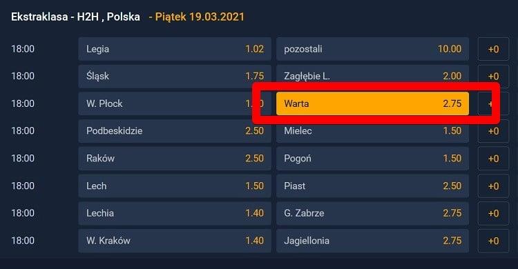 Wisła Płock - Warta Poznań